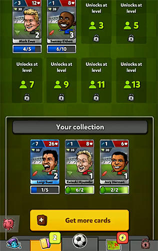 Puppet football card manager CCG para Android