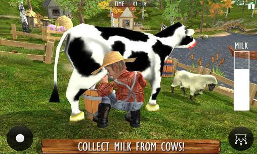 Simulación Farm life: Farming simulator. Real farmer 3D para teléfono inteligente
