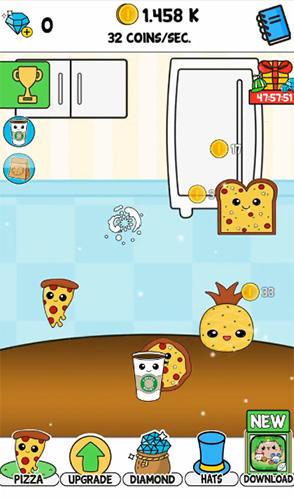 Pizza evolution: Flip clicker auf Deutsch