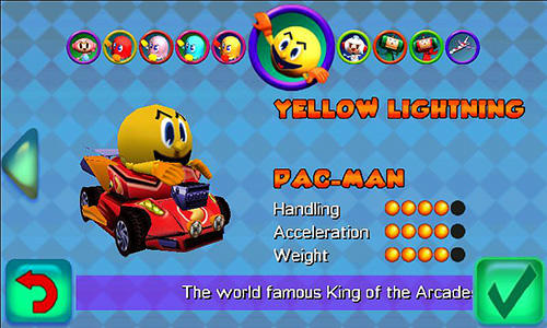 Pac-Man: Kart rally captura de pantalla 1