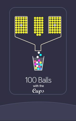 100 balls with the cups Screenshot