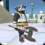 Panda superhero ícone
