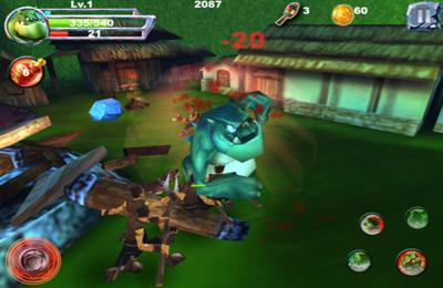 Screenshot Monsterkampf auf dem iPhone
