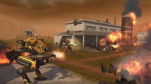 Actionspiele WWR: World of warfare robots für das Smartphone