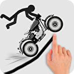 Stickman racer road draw icon