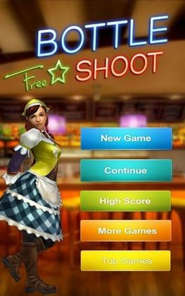 Arcade-Spiele Bottle shot für das Smartphone