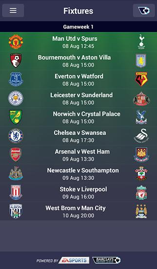 Fantasy premier league 2015/16 Screenshot