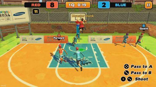 Sportspiele Street dunk: 3 on 3 basketball für das Smartphone