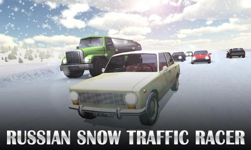 Russian snow traffic racer Symbol