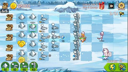 Turmabwehr-Spiele Stickman defense: Cartoon wars auf Deutsch