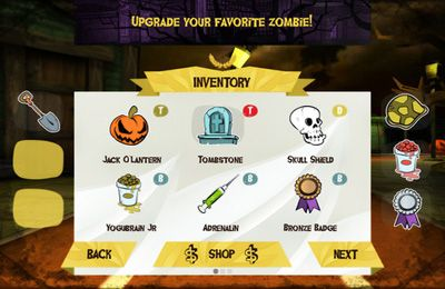 Screenshot Zombie-Olympiade auf dem iPhone