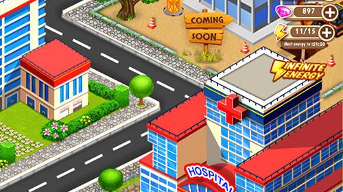 Arcade-Spiele Doctor mania: Hospital game für das Smartphone