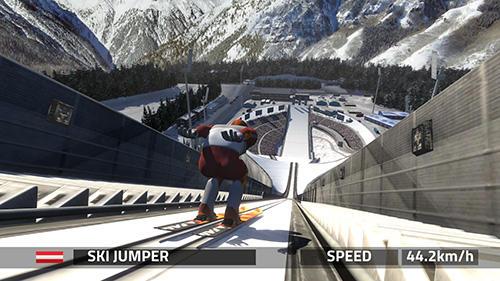 アンドロイド用ゲーム スキー・ジャンピング・プロ のスクリーンショット