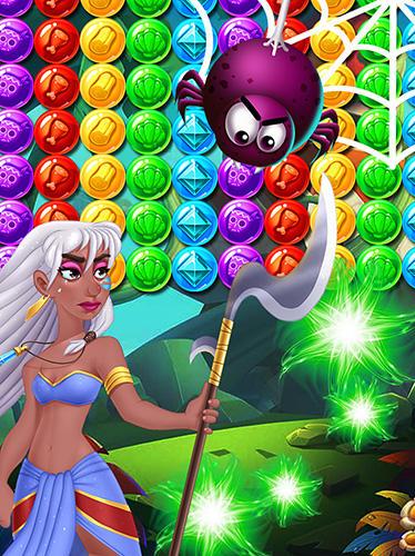 Arcade-Spiele Brutal tribe bubble shooter 2 für das Smartphone