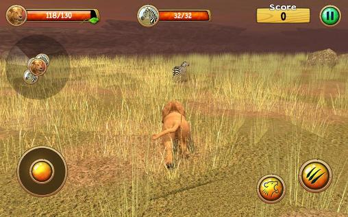 Wild lion simulator 3D capture d'écran 1