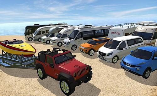 Simulation Camper van truck simulator für das Smartphone