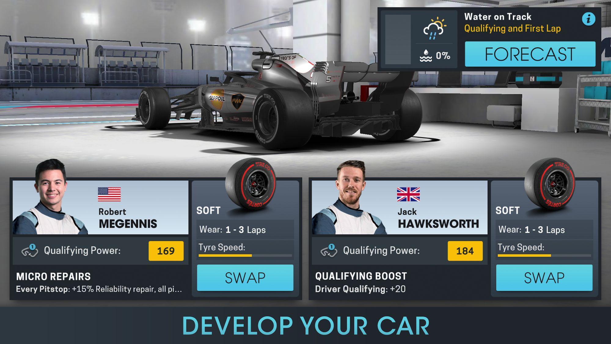 Android用 Motorsport Manager Online