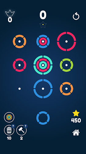 Stackz: Put the rings on. Color puzzle in English