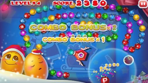 Juegos de arcade Marble blast: Merry Christmas para teléfono inteligente