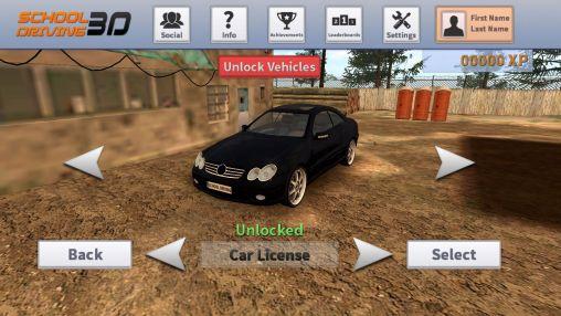 Simulator-Spiele School driving 3D für das Smartphone