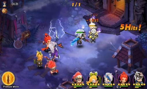 Strategische RPG-Spiele Mystic kingdom: Season 1 für das Smartphone