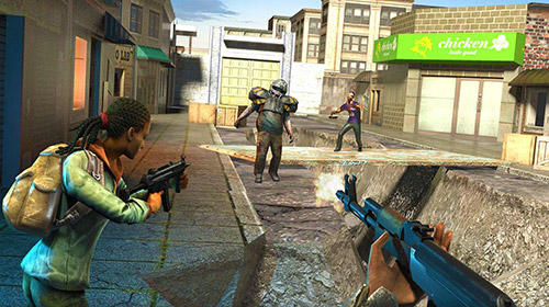 Action Hopeless raider: Zombie shooting games für das Smartphone