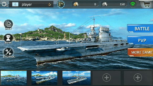 Actionspiele Warship sea battle für das Smartphone