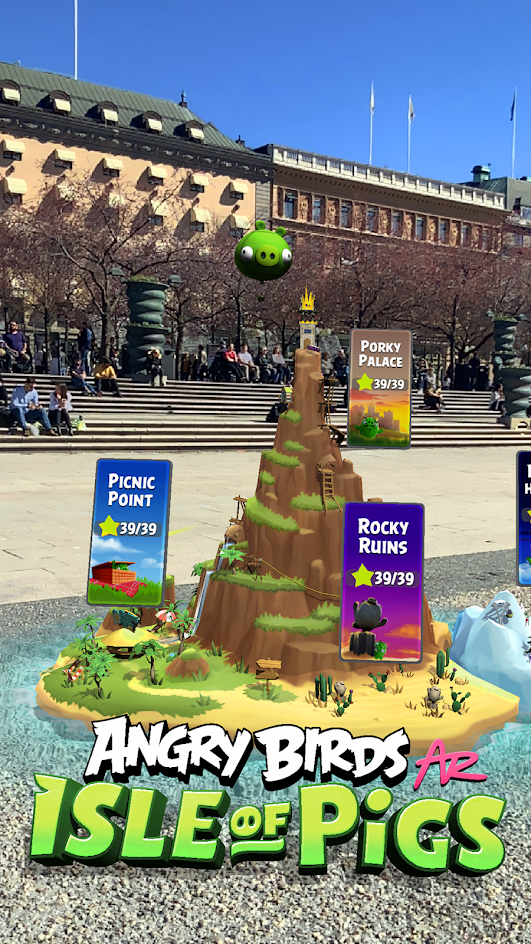 Angry birds AR: Isle of pigs screenshot 1