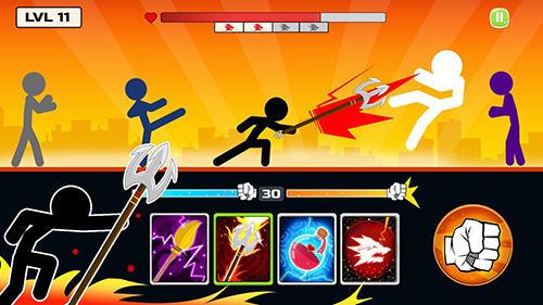 ファイティング Stickman fighter: Mega brawl の日本語版