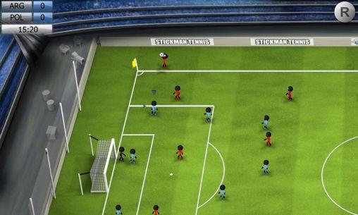 Simulation Stickman soccer 2014 für das Smartphone