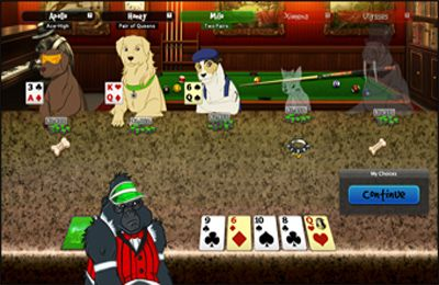 Screenshot Dogs Playing Poker on iPhone