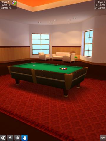 Screenshot Pool Billiard auf dem iPhone