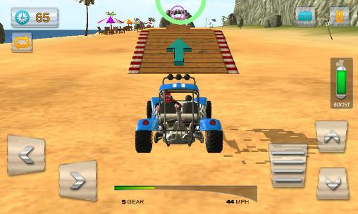 Off-Road Rennen Buggy stunts 3D: Beach mania auf Deutsch