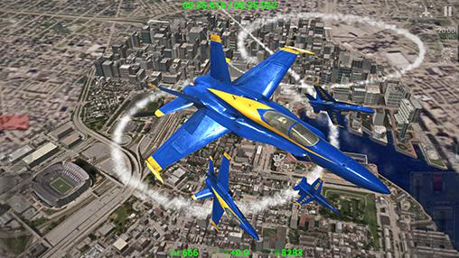 Blue angels: Aerobatic sim screenshot 1