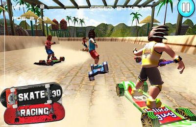 Screenshot Skate Rennen 3D (Kostenlose Rennenspiele) auf dem iPhone