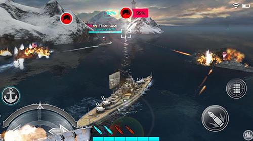Action Warship fury: World of warships für das Smartphone