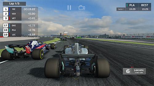 F1 Mobiles Rennen auf Deutsch