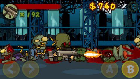 Screenshot Zombie Walker auf dem iPhone