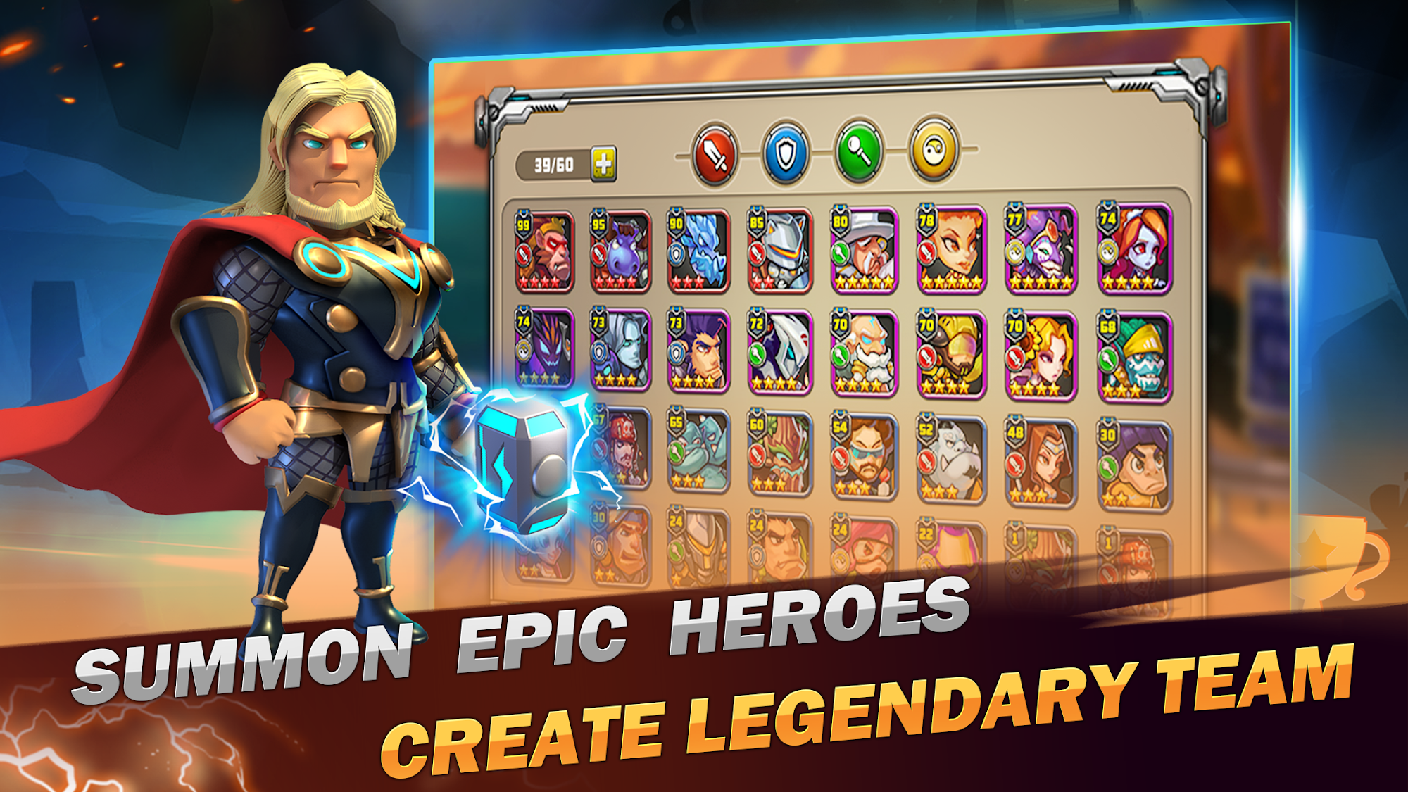Superhero Wars: Epic Idle RPG - Legend Battle для Android