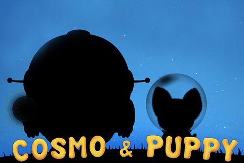 logo Cosmos y cachorro