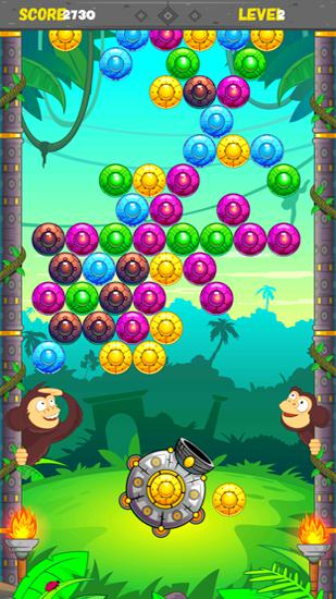 Jungle monkey bubble shooter für Android