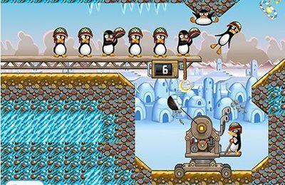 Les Pinguins en Colère. La Catapulte en russe