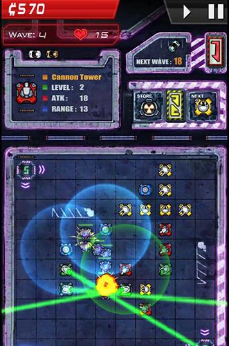 Strategiespiele Infinity defense für das Smartphone