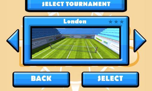 Sportspiele Fingertip tennis für das Smartphone