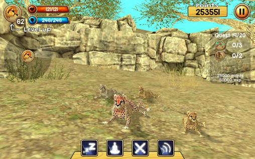 Wild cheetah sim 3D pour Android