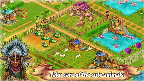 Onlinespiele Farm tribe online: Floating Island für das Smartphone