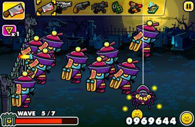 Strategiespiele: Lade Monster Chaos: Zombies schiessen und Turm verteidigen auf dein Handy herunter
