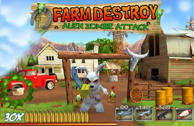 logo Farm zerstören - Alien Zombie Attacke