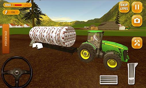 Tracteur de ferme: Simulateur 2017 pour Android