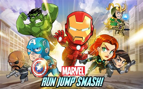 logo Marvel: Run, jump, smash!